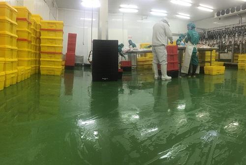 pisos para plantas de alimentos expuesto a humedad